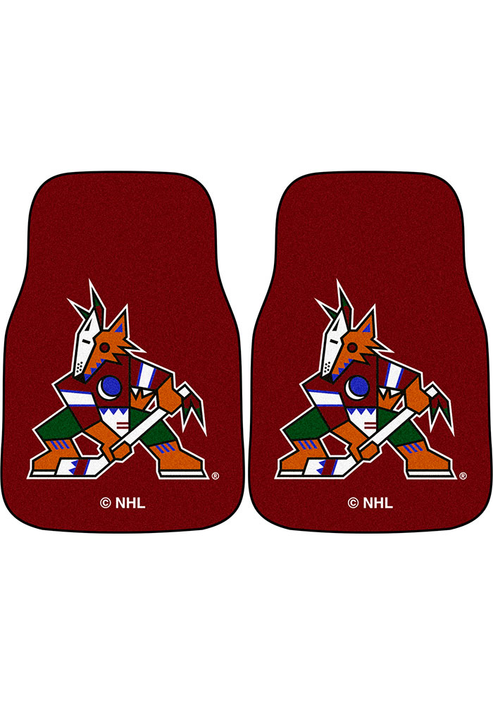 Sports Licensing Solutions Arizona Coyotes 2-Piece Carpet Car Mat - Black - Image 1