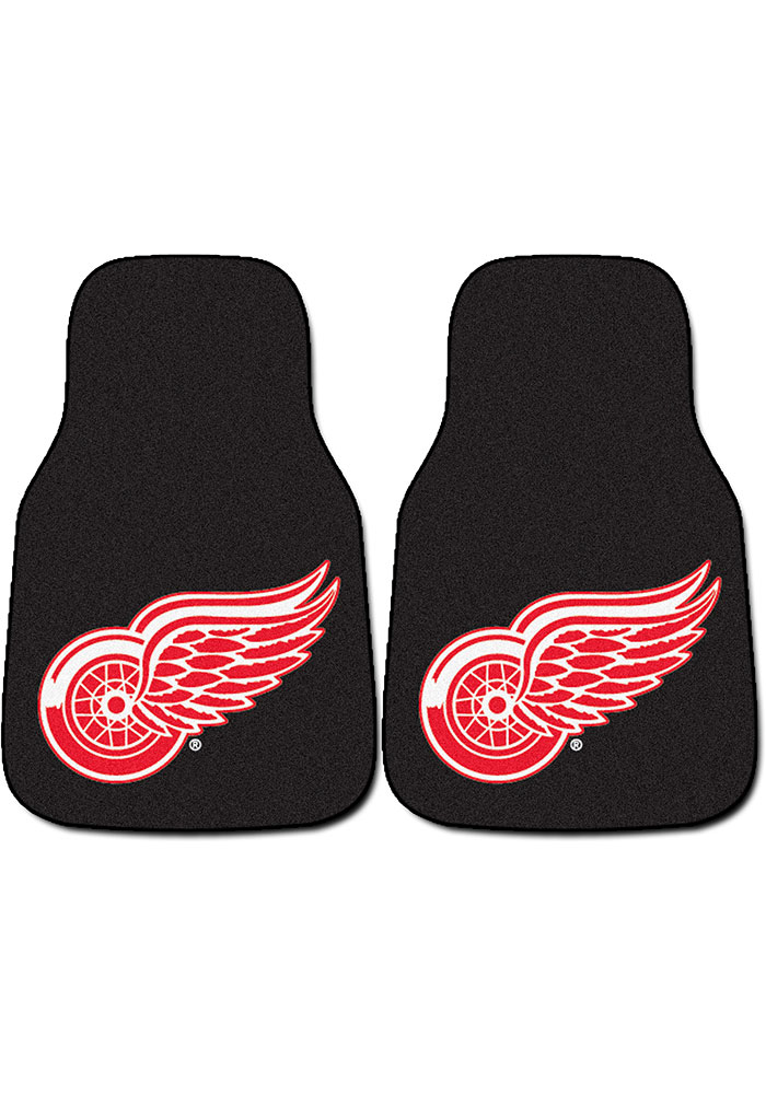 Sports Licensing Solutions Detroit Red Wings 2-Piece Carpet Car Mat - Black - Image 1