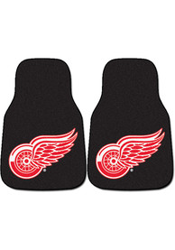Sports Licensing Solutions Detroit Red Wings 2-Piece Carpet Car Mat - Black