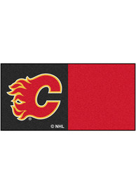 Calgary Flames 18x18 Team Tiles Interior Rug