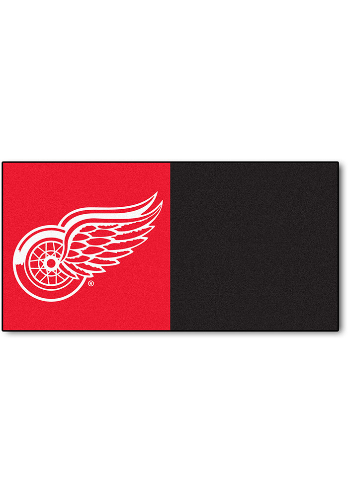 Detroit Red Wings 18x18 Team Tiles Interior Rug - Image 1