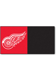 Detroit Red Wings 18x18 Team Tiles Interior Rug