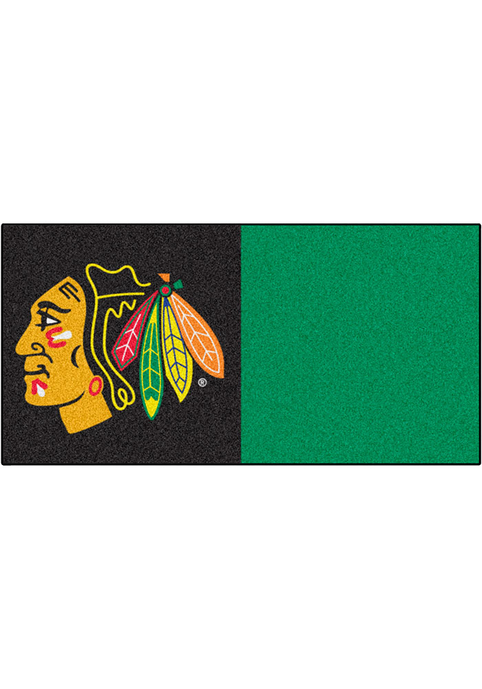 Chicago Blackhawks 18x18 Team Tiles Interior Rug - Image 1
