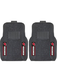Sports Licensing Solutions Wisconsin Badgers 21x27 Deluxe Car Mat - Black