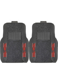 Sports Licensing Solutions Texas Tech Red Raiders 21x27 Deluxe Car Mat - Black