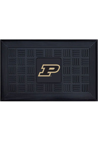 Purdue Boilermakers Black Vinyl Door Mat