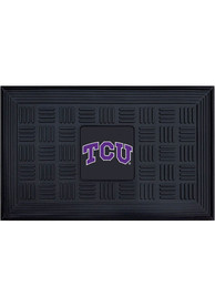 TCU Horned Frogs Black Vinyl Door Mat