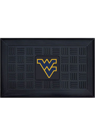 West Virginia Mountaineers Black Vinyl Door Mat