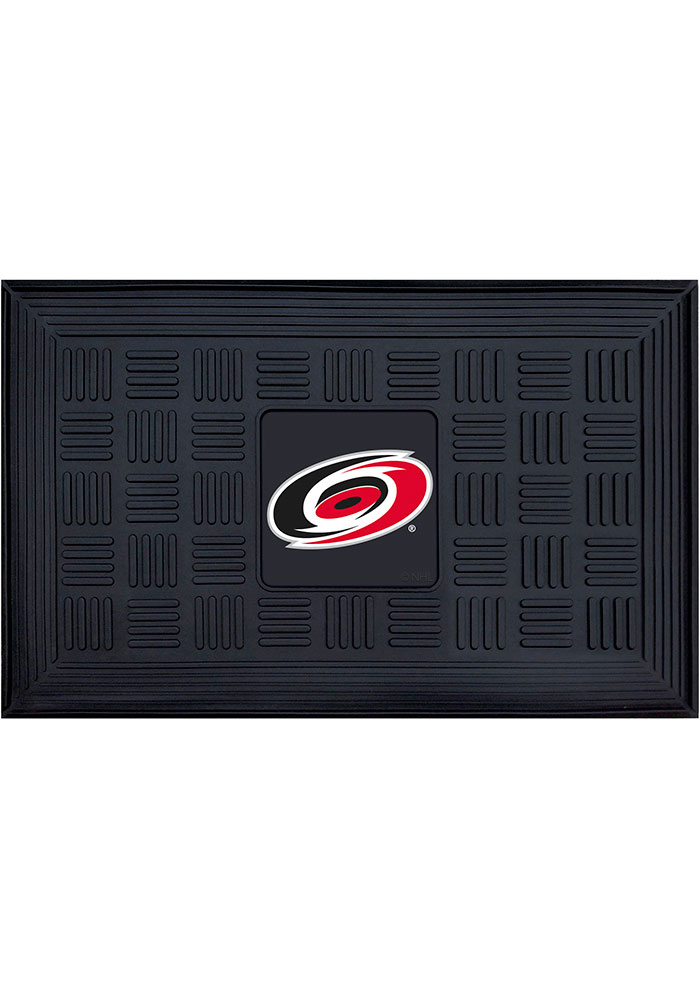 Carolina Hurricanes Black Vinyl Door Mat - Image 1