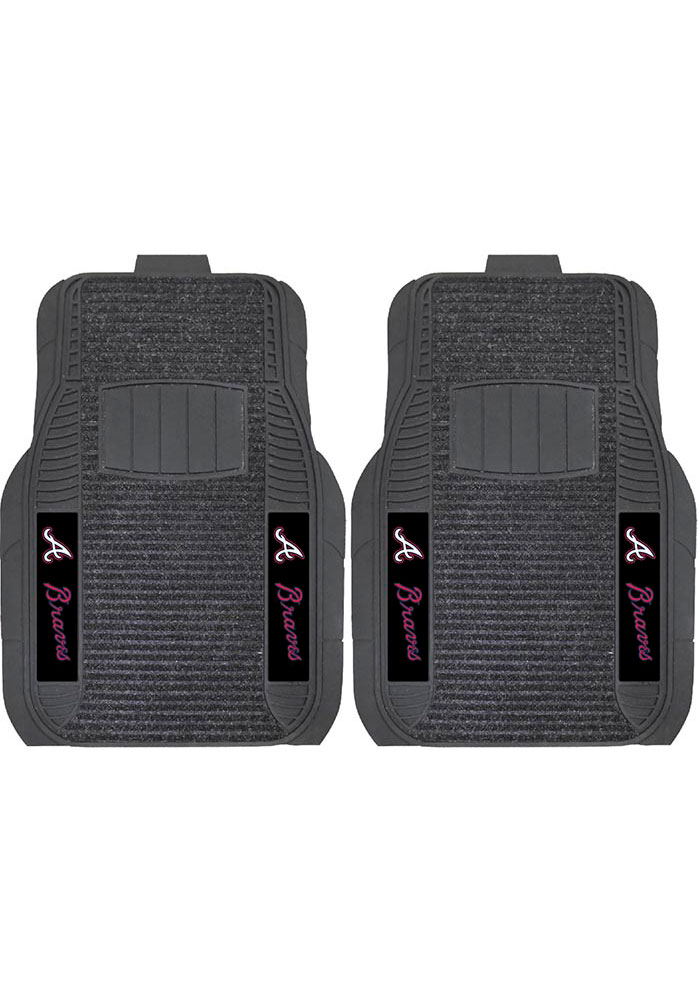 Sports Licensing Solutions Atlanta Braves 21x27 Deluxe Car Mat - Black - Image 1
