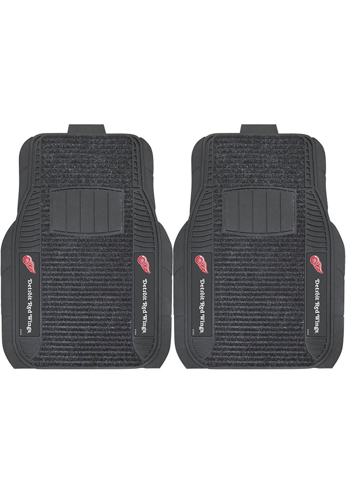 Sports Licensing Solutions Detroit Red Wings 21x27 Deluxe Car Mat - Black - Image 1