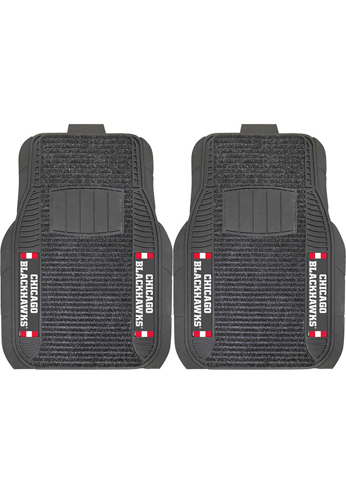 Sports Licensing Solutions Chicago Blackhawks 21x27 Deluxe Car Mat - Black - Image 1
