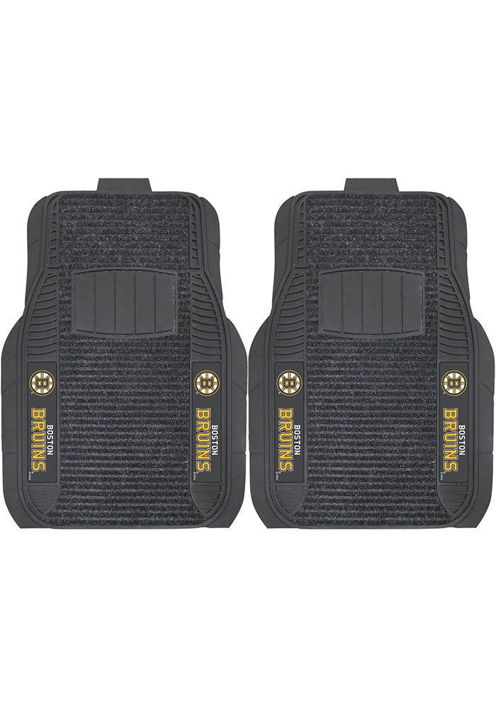 Sports Licensing Solutions Boston Bruins 21x27 Deluxe Car Mat - Black - Image 1