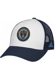 Philadelphia Union Womens Adidas Mesh Back Trucker Adjustable - White