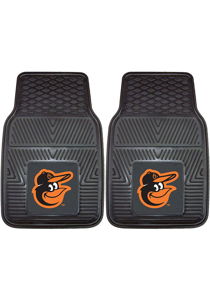 Sports Licensing Solutions Baltimore Orioles 18x27 Vinyl Car Mat - Black - Image 1