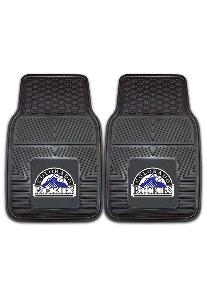 Sports Licensing Solutions Colorado Rockies 18x27 Vinyl Car Mat - Black - Image 2