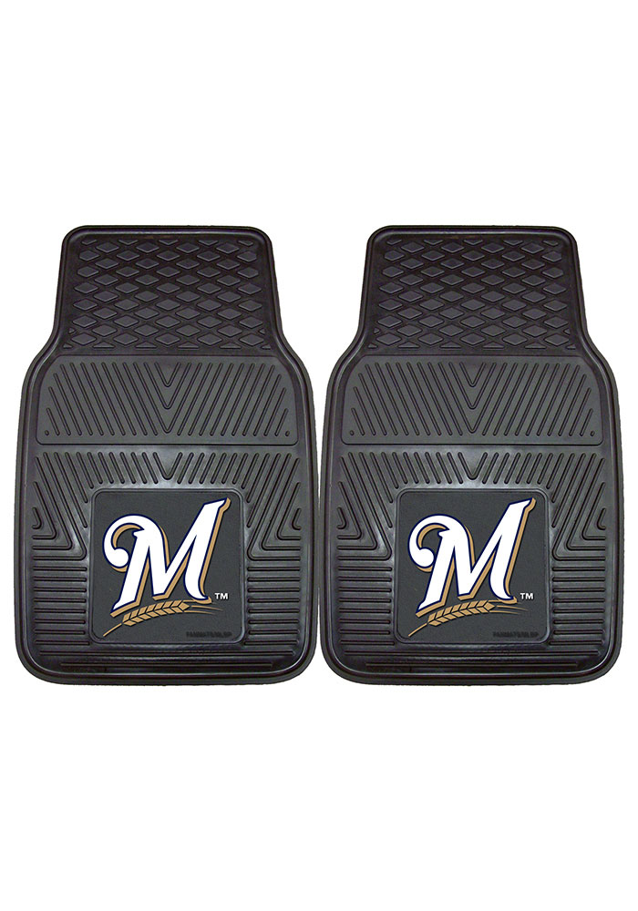 Sports Licensing Solutions Milwaukee Brewers 18x27 Vinyl Car Mat - Black - Image 2