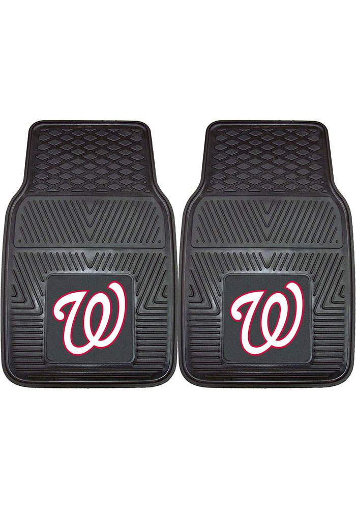 Sports Licensing Solutions Washington Nationals 18x27 Vinyl Car Mat - Black - Image 1