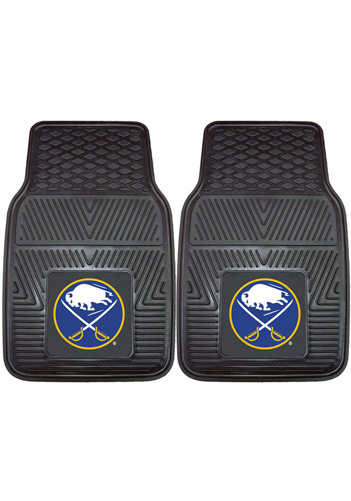 Sports Licensing Solutions Buffalo Sabres 18x27 Vinyl Car Mat - Black - Image 1