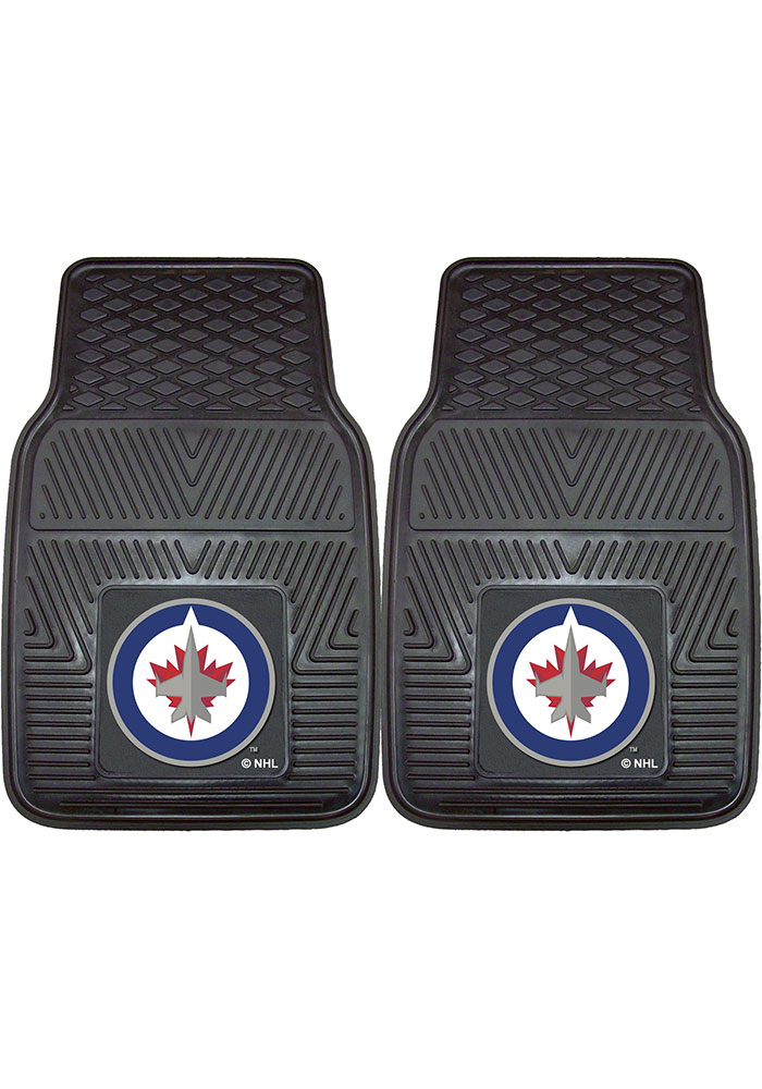 Sports Licensing Solutions Winnipeg Jets 18x27 Vinyl Car Mat - Black - Image 1