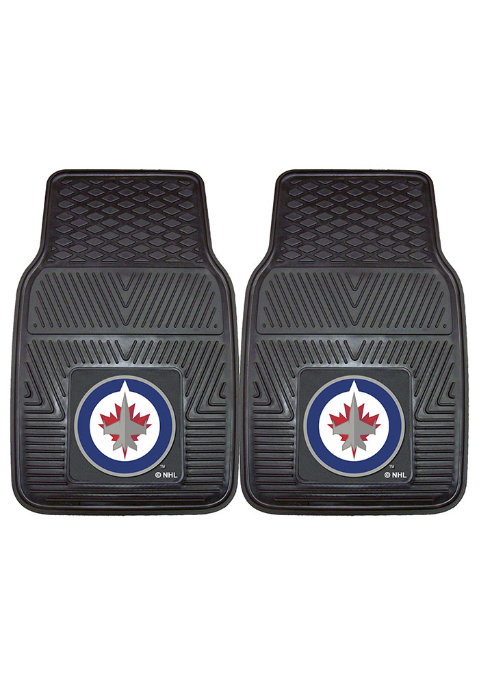 Sports Licensing Solutions Winnipeg Jets 18x27 Vinyl Car Mat - Black - Image 2