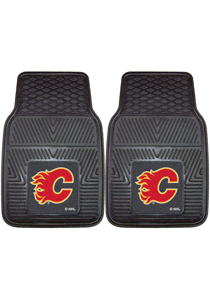 Sports Licensing Solutions Calgary Flames 18x27 Vinyl Car Mat - Black - Image 1