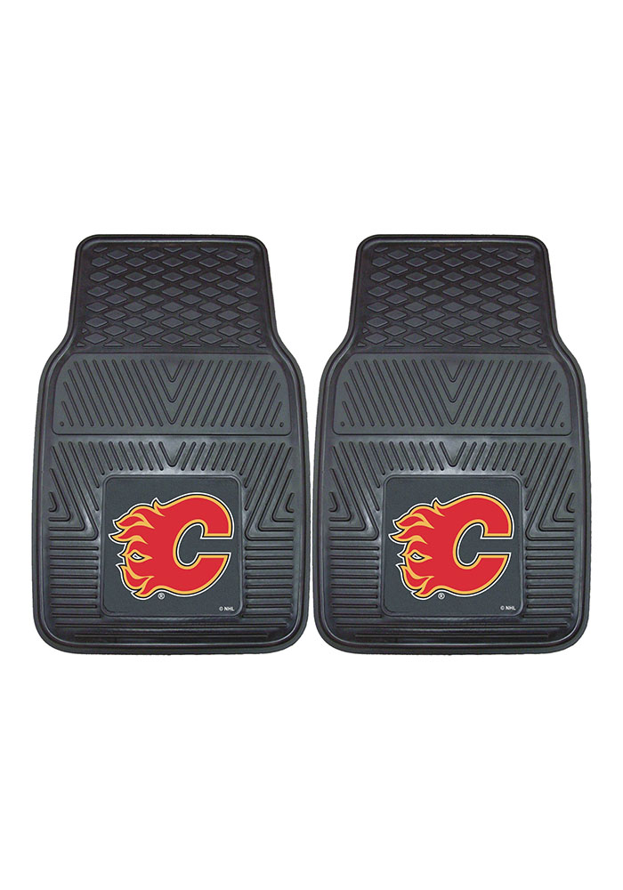 Sports Licensing Solutions Calgary Flames 18x27 Vinyl Car Mat - Black - Image 2