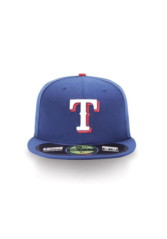 New Era Texas Rangers Mens Blue AC 5950 Fitted Hat - Image 2