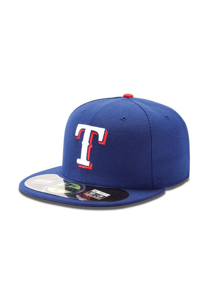 New Era Texas Rangers Mens Blue AC 5950 Fitted Hat - Image 3