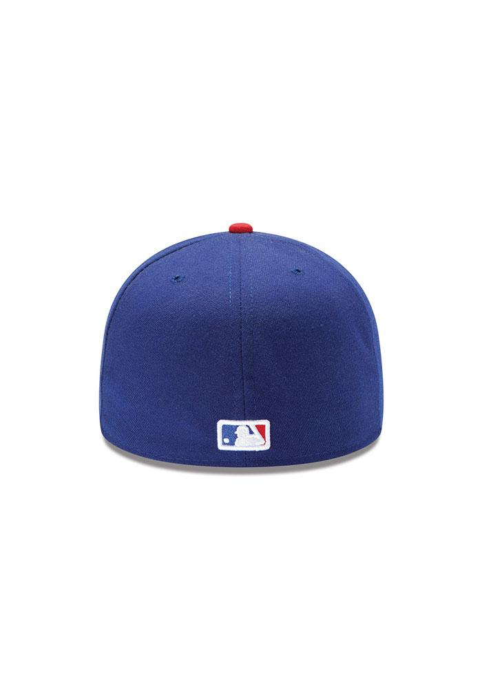 New Era Texas Rangers Mens Blue AC 5950 Fitted Hat - Image 4
