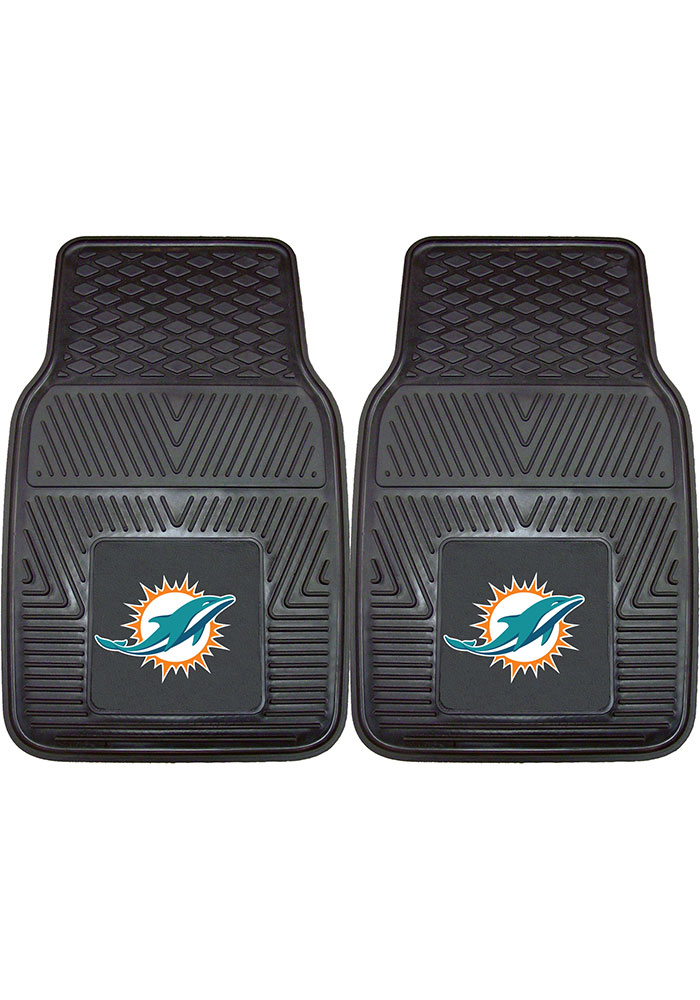 Sports Licensing Solutions Miami Dolphins 18x27 Vinyl Car Mat - Black - Image 1