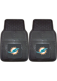 Sports Licensing Solutions Miami Dolphins 18x27 Vinyl Car Mat - Black