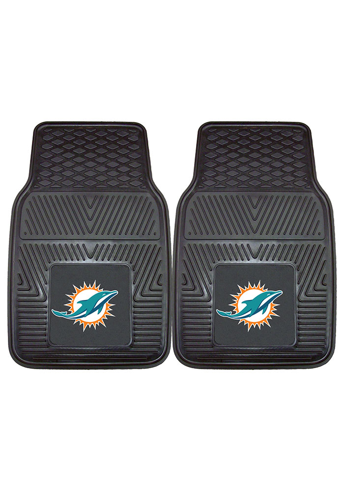 Sports Licensing Solutions Miami Dolphins 18x27 Vinyl Car Mat - Black - Image 2