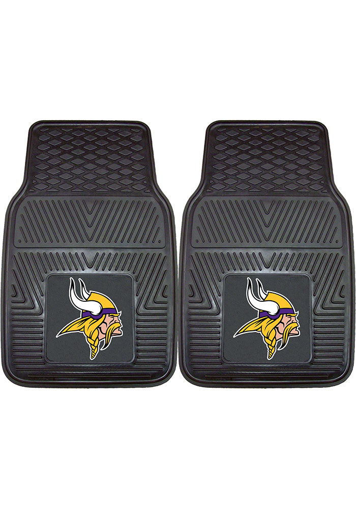 Sports Licensing Solutions Minnesota Vikings 18x27 Vinyl Car Mat - Black - Image 1