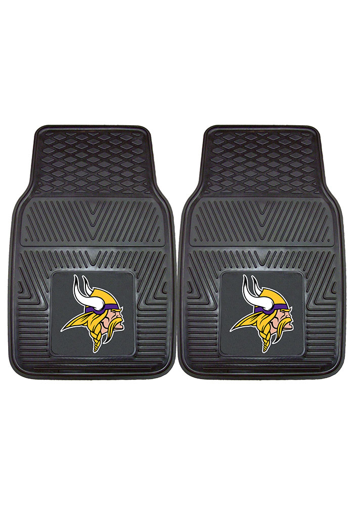 Sports Licensing Solutions Minnesota Vikings 18x27 Vinyl Car Mat - Black - Image 2