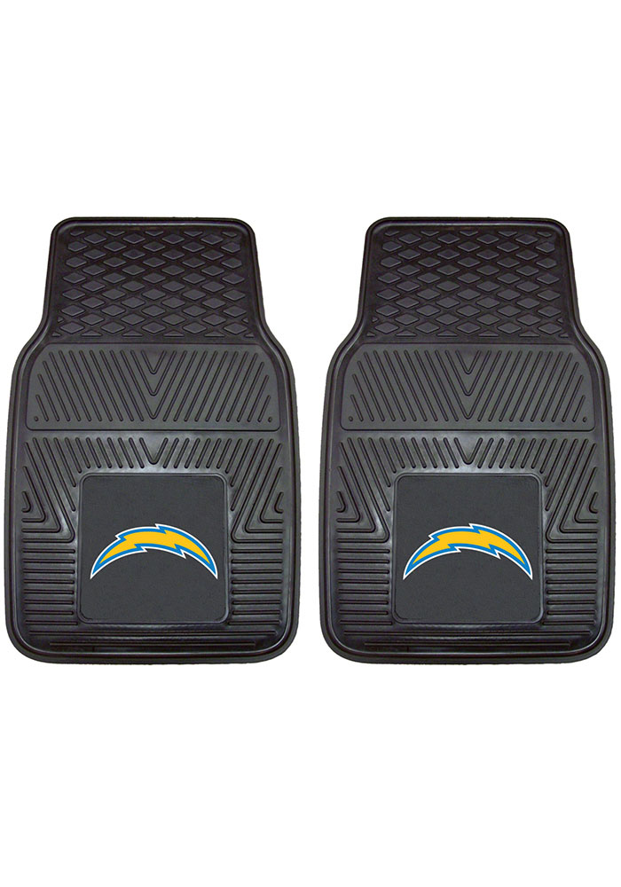 Sports Licensing Solutions Los Angeles Chargers 18x27 Vinyl Car Mat - Black - Image 1