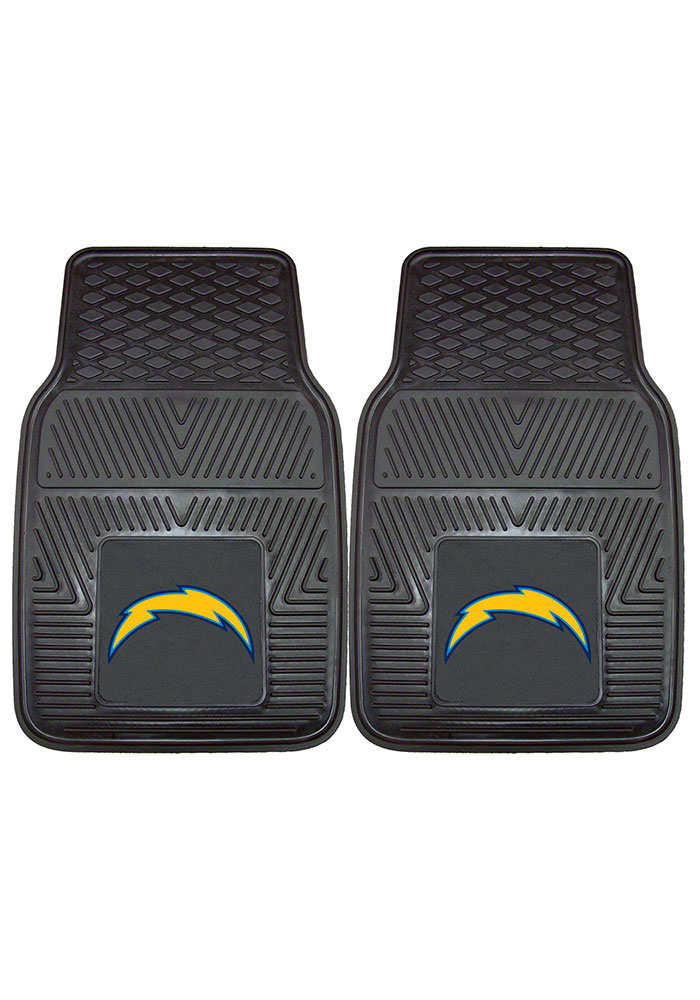 Sports Licensing Solutions Los Angeles Chargers 18x27 Vinyl Car Mat - Black - Image 2