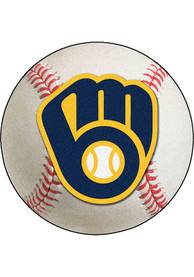 Milwaukee Brewers 27` Baseball Interior Rug