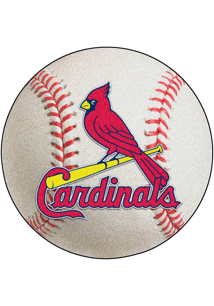 St Louis Cardinals 27` Baseball Interior Rug - Image 1