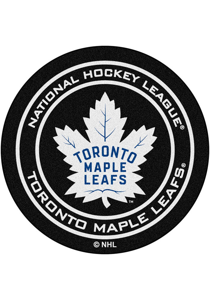 Toronto Maple Leafs 27` Puck Interior Rug - Image 1