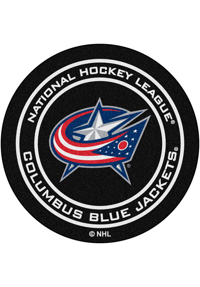 Columbus Blue Jackets 27` Puck Interior Rug - Image 1