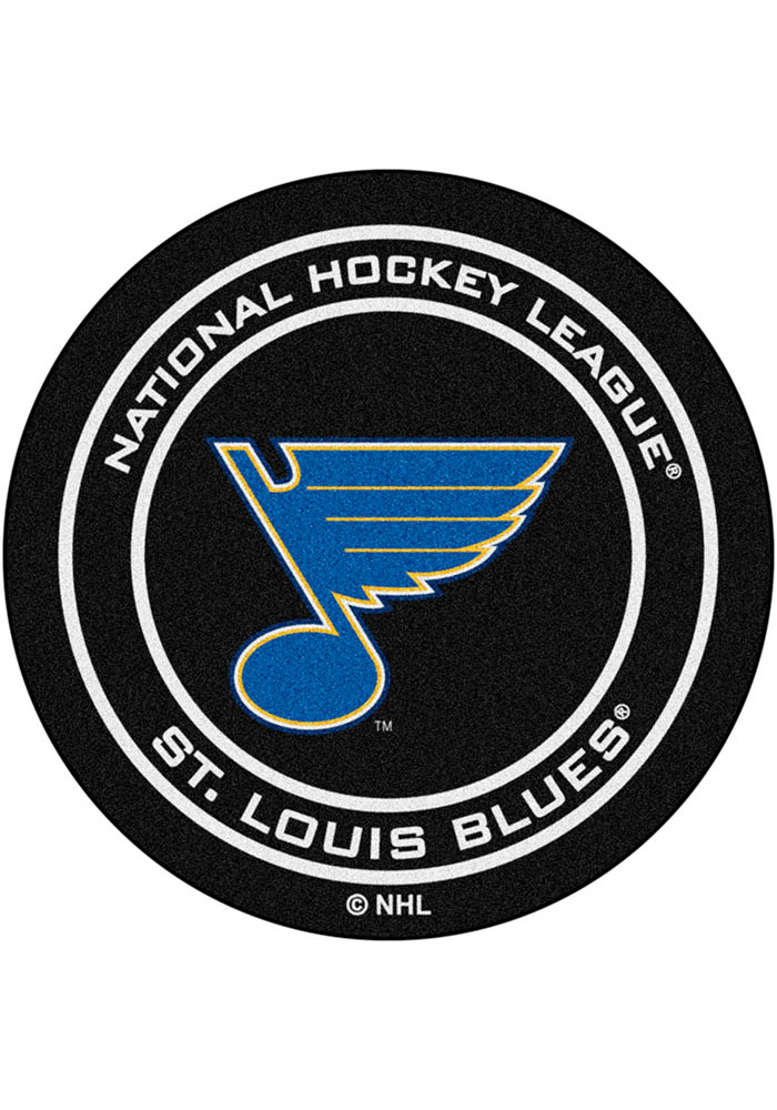 St Louis Blues 27` Puck Interior Rug - Image 1