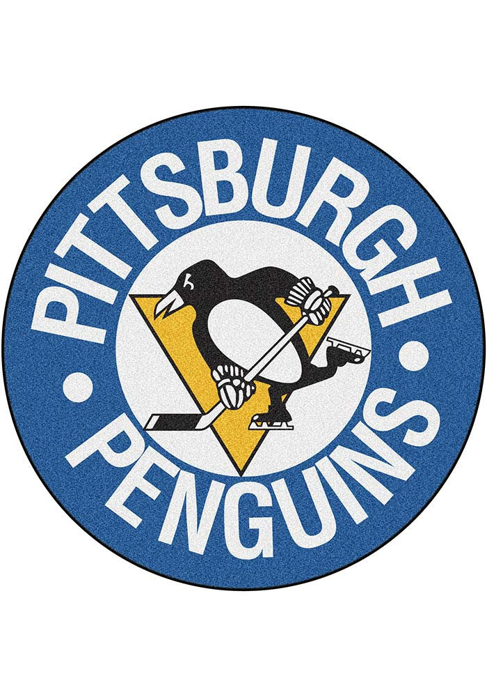 Pittsburgh Penguins 27` Puck Auto Car Mat - Image 1