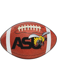 Alabama State Hornets team logo in the center Interior Rug