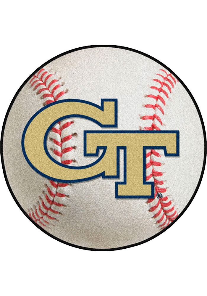 GA Tech Yellow Jackets 27` Baseball Interior Rug - Image 1