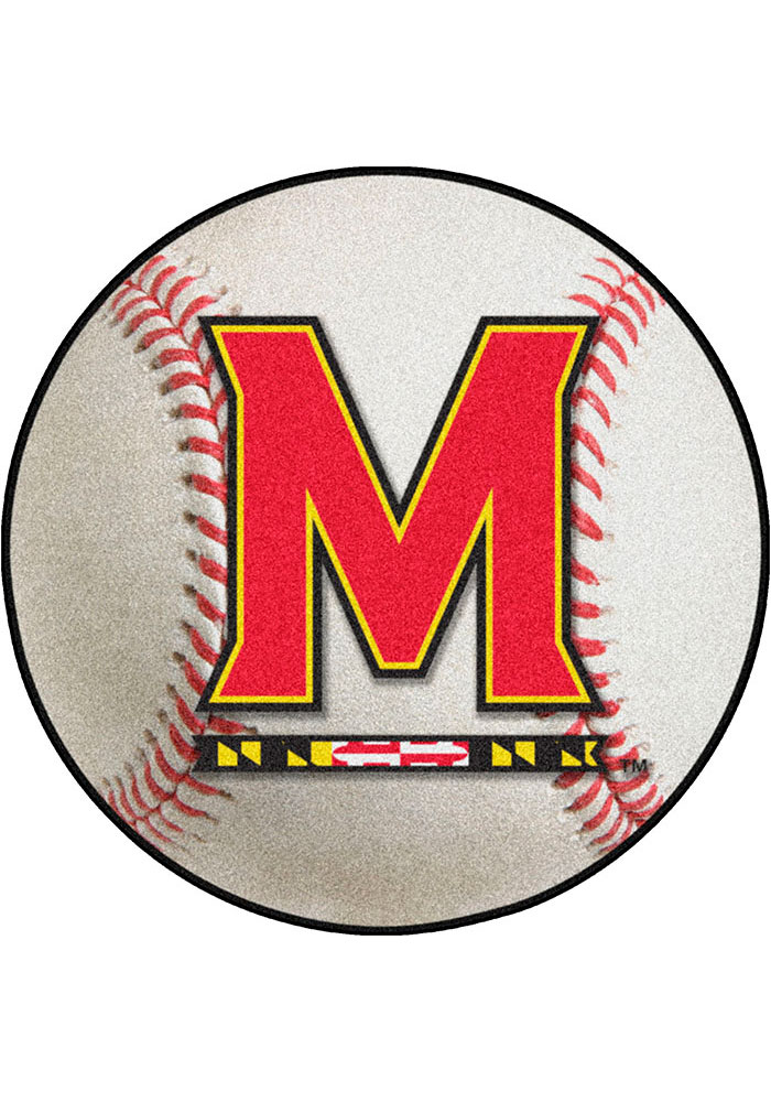 Maryland Terrapins 27` Baseball Interior Rug - Image 1
