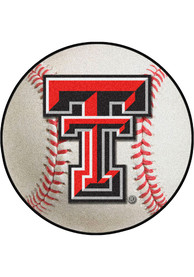 TTech Red Raiders 27` Baseball Interior Rug