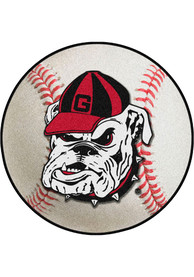 Georgia Bulldogs 27` Baseball Interior Rug