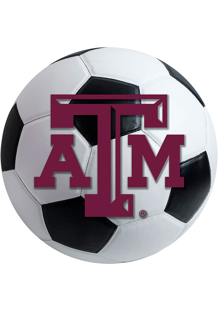 Texas A&M Aggies 27 Inch Soccer Interior Rug - Image 1