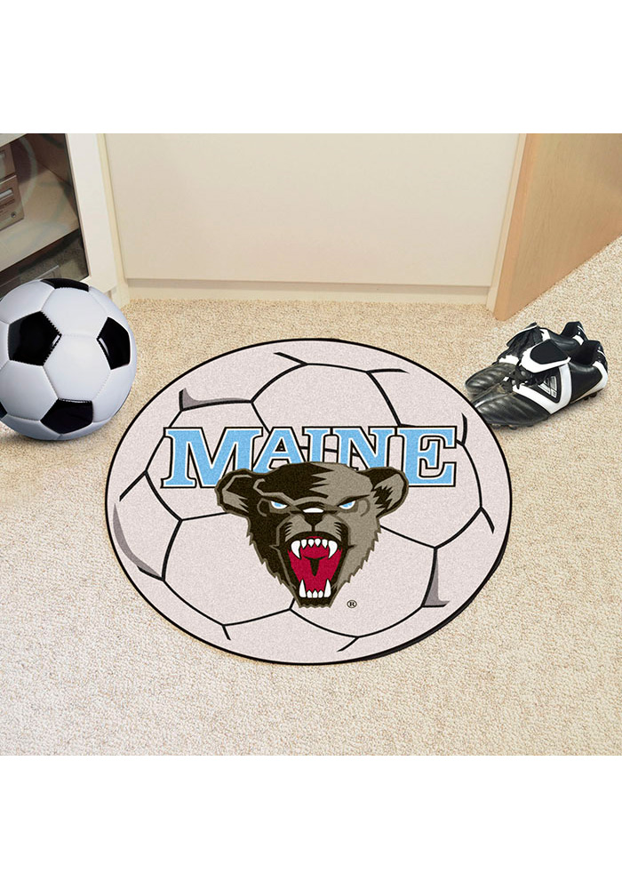 Maine Black Bears 27 Inch Soccer Interior Rug - Image 1
